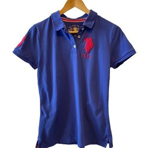 U.S. POLO ASSN Purple Collared Short Sleeve Polo S